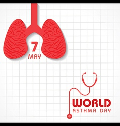 Creative World Asthma Day Greeting vector image
