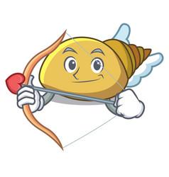 Cupid mollusk shell character cartoon vector