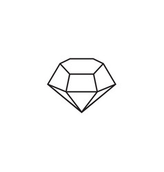 diamond precious gem graphic deisgn template vector image