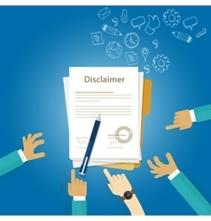 disclaimer contract document signed vector image