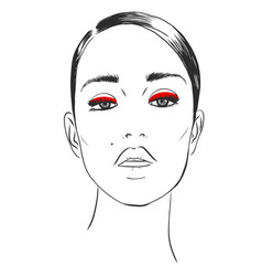 fashion style beauty makeup cosmetics stylish vector image