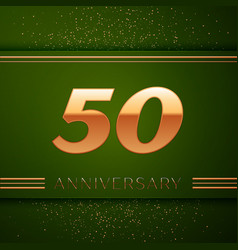 fifty years anniversary celebration logotype vector image