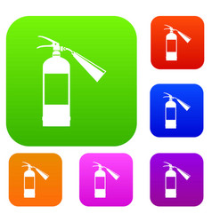 fire extinguisher set collection vector image