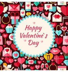 flat pattern happy valentine day background vector image