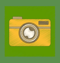 Flat shading style icon camera vector