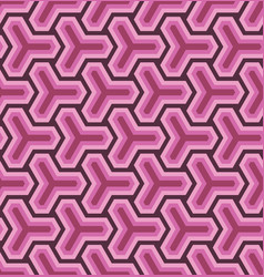 geometric ornament based on a hexagonal grid vector image