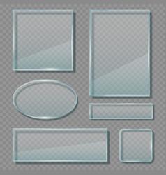 Glass panels acrylic transparent reflective vector