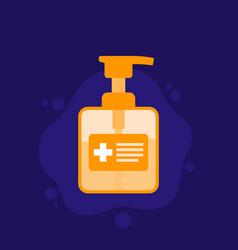 Hand sanitizer antibacterial gel bottle icon vector