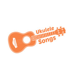 Hawaii national musical instrument modern orange vector
