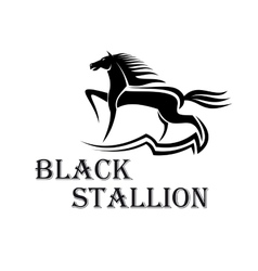Horse show symbol with purebred stallion at a trot vector