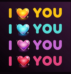 i love you sign vector image