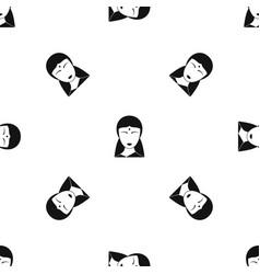 Indian woman pattern seamless black vector