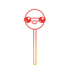 isolated lolly pop design vector image