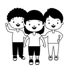 kids character happy vector image