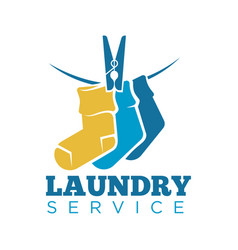 Laundry icon or laundromat template of vector