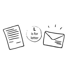 Letter mail envelope hand drawn doodle sketch vector