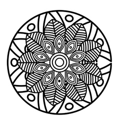 Mandala art decorative icon vector