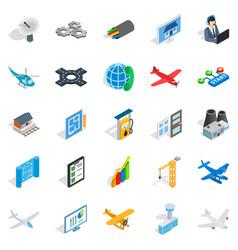 mechanical engineering icons set isometric style vector image