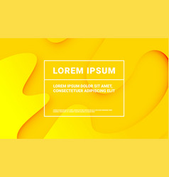 minimal yellow background for presentation vector image