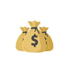 money bags flat cartoon bags vector image