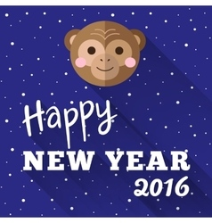 New Year 2016 poster design with little chimp and vector