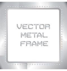 old riveted metal frame vector image