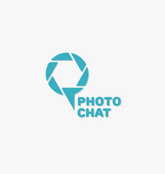 photo chat logo vector image