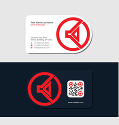 Red business card for pr manager vector