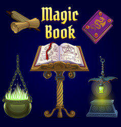 set of objects for witchcraft vector image