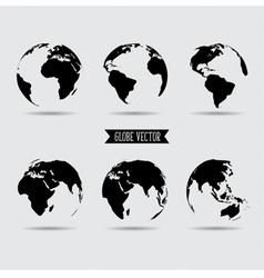 Set of world globe vector image