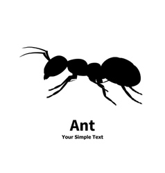 silhouette of ant vector image