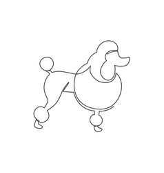 single continuous line drawing simple cute vector image