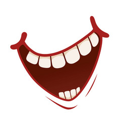 smile icon pleased kind or amused face vector image