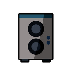 speaker sound audio shadow vector image