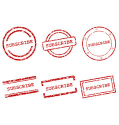 subscribe stamps vector image