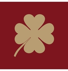 The clover with four leaves icon Saint Patrick vector