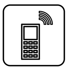 The sign of the handset vector