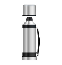 Thermos with flask mockup realistic style vector