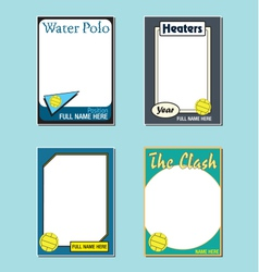 Water Polo Cards vector image