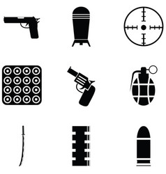 Weapons icon set vector