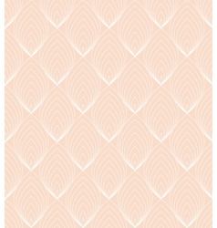 White Line leaves seamless pattern on pink vector image