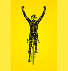 Winner bicycle riding vector