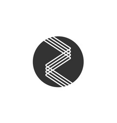 Z a letter logo lettermark za monogram typeface vector