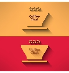 coffee cup made in modern flat design Cafe vector image vector image