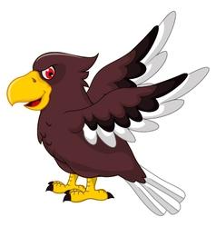 Cute Eagle cartoon flying vector image vector image