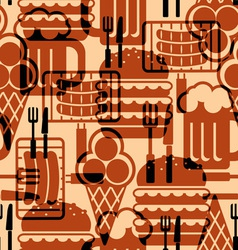 food icons background vector image vector image