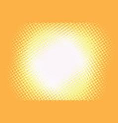 yellow background light retro comic vector image