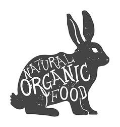 Hand drawn farm animal rabbit natural organic food vector