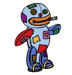 Little scary doll vector image