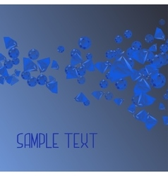 Abstract background with blue crystal vector image